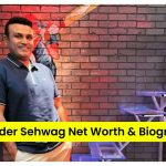 Virender Sehwag standing in a studio with a smile on his face   Virender Sehwag Net Worth