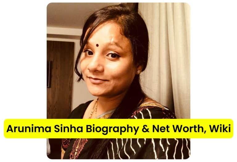 Arunima Sinha in a saree and bindi, smiling, Arunima Sinha biography